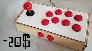 DIY - Arcade Stick in wood for 20$