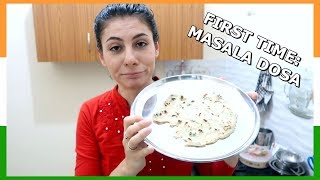 FIRST INDIAN FOOD EP. 4: MASALA DOSA DISASTER | TRAVEL VLOG IV