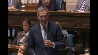 Premier Brian Pallister marks the retirement of Sergeant-at-Arms Blake Dunn
