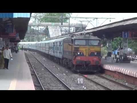 Desi Gorakhpur Express Fitted with German Coaches (LHB) creates a smart scene at Khadavli, India