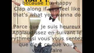 Pharell Williams Happy paroles et traduction