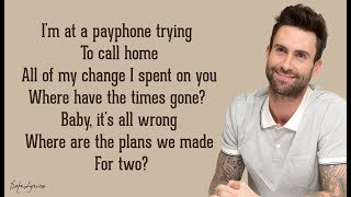 Payphone - Maroon 5 ft. Wiz Khalifa (Lyrics) 🎵