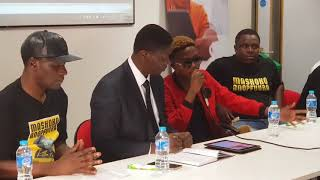 Killer T at Zim Cup Clash  2018 Press Conference in Bedford