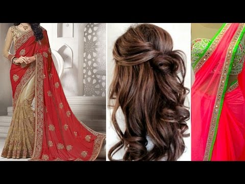 Xxx Mp4 3 Gorgeous Ways Of Party Style Saree Draping Tutorial Step By Step With Party Hairstyles DIY 3gp Sex