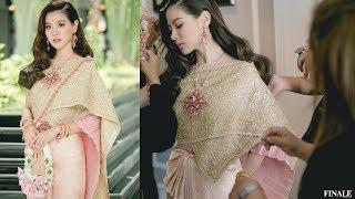 FINALE WEDDING STUDIO ชุดไทยจักรพรรดิประยุกต์ สีชมพูสุดอ่อนหวาน