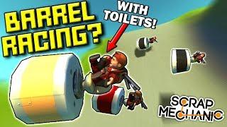 SILLIEST BARREL ROLL RACE! (GRAVITY ONLY!)  - Scrap Mechanic Multiplayer Monday! Ep 86