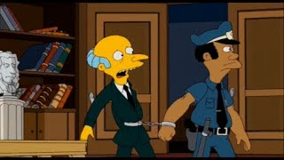 The Simpsons: Mr Burns gets arrested