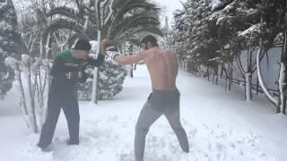 Sarp Leveendoğlu'nu kar bile durduramadı