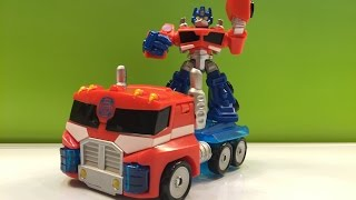 Transformer Rescue Bots Optimus Prime Energize with a Rescue Saw by DisneyToysReview