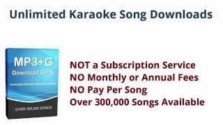 Download Karaoke Songs - Unlimited MP3+G File Downloads