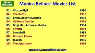 Monica Bellucci Movies List