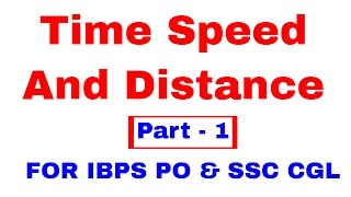 Time Speed and Distance For IBPS PO | SSC CGL [In Hindi] Part 1