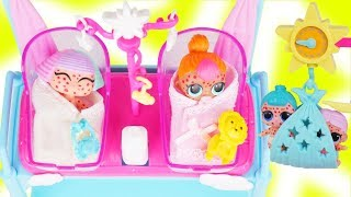 LOL Surprise Dolls + Lil Sisters get Chicken Pox Sick at Barbie Hospital Doctor - Toy Wave 2 Video