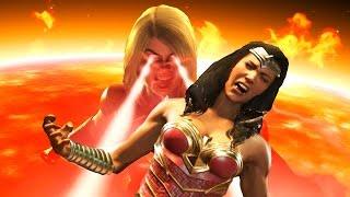 Injustice 2 All Super Moves on Wonder Woman (No HUD) 4K UHD 2160p