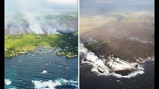 Hawaii volcano eruption: SHOCK PICTURES of Kapoho Bay before and after - The News