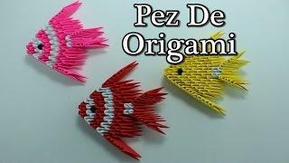 3D Origami Fish / Pez Origami 3D ¡TUTORIAL!