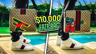 $10,000 CUSTOM FAZE GUCCI BAG! (ft. FaZe Rug)