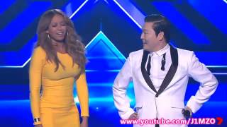 Mel B Does The Gangnam Style Dance With PSY - The X Factor Australia 2012