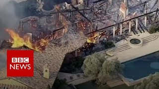 California wildfires destroy homes - BBC News
