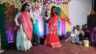 Habib's Wedding performance by cousin sisters - Khilkhet, Dhaka wedding (Nagada Sang Dhol Baje)