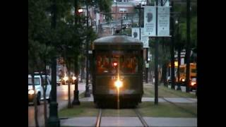New Orleans RTA Streetcar Lines St. Charles, Lower Canal St. and Riverfront - May 2002
