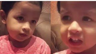 Dhoni's daughter siva singing malayalam song