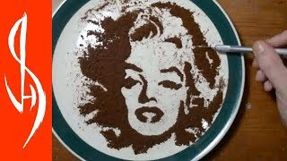 Drawing Portraits with Sugar and Coffee Compilation - Jonathan Stephen Harris