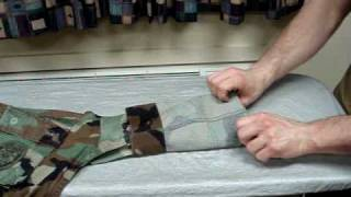 How to roll BDU sleeves USN/USMC