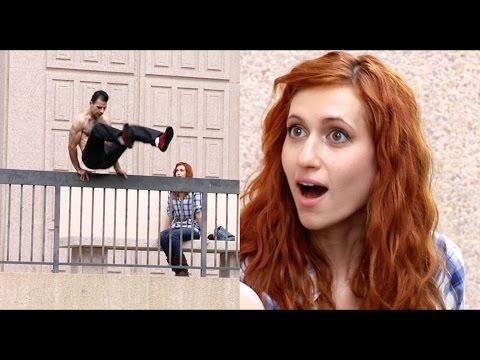 Bold Guy Picks Up Girl During Parkour (Mystery Girl)