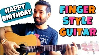 Happy Birthday Fingerstyle Guitar Lesson - Hindi