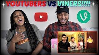 YouTube vs Vine - RAP BATTLE! (ft. King Bach, DeStorm, Logan Paul, Timothy DeLaGhetto) REACTION!!