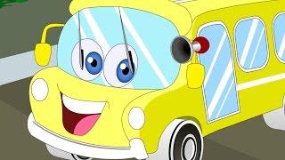 The Wheels On The Bus | Nursery Rhymes | Kids Songs | Vehicle Songs
