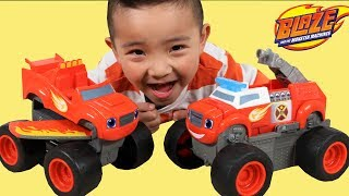 BLAZE And The Monster Machines Transforming Fire Truck & Jet Toys  Ckn Toys