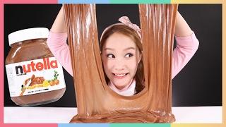 凱利用Nutella巧克力醬制作冷凍黏土液體怪物玩具遊戲 |   凱利和玩具朋友們  CarrieAndToys
