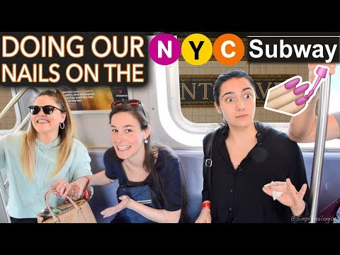Painting our Nails on the NYC Subway ft. Safiya & Threadbanger expert level