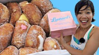 Leonard's Malasadas ALL THE FLAVORS Taste Test - Hawaiian doughnuts | Emmy's Hawaii Adventure E3