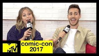 The CW's 'Supergirl' Cast Musical Recap of Season 2   Comic-Con 2017   MTV