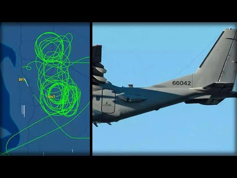 LOOK UP AN UNIDENTIFIED PLANE CIRCLED THIS US CITY FOR 2 WEEKS GOV SILENT