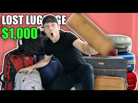 I Bought 1000 Lost Luggage at an Auction and Found This… Buying Lost Luggage Mystery Auction