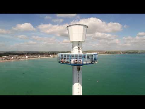 DRONE AT WEYMOUTH BEACH