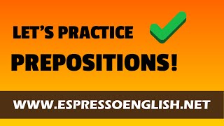 English Prepositions Exercise