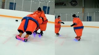 Hoverboard Sumo Wrestling On Ice! - Winter of Challenges