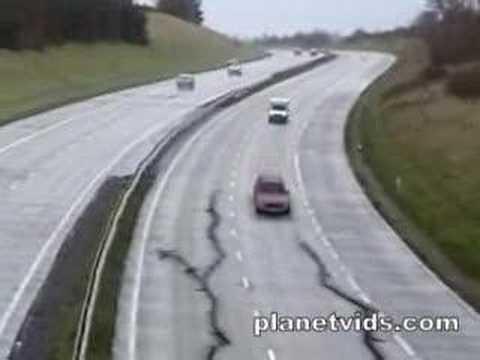 Terremoto en la carretera