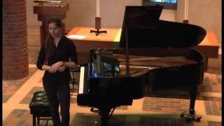 Concert at Robinson College Chapel, Cambridge 24 - Irena Radic (Introduction)