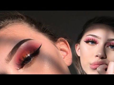 SUNSET gold glitter eyeshadow tutorial