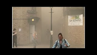 News Firefighters quell big blaze near London