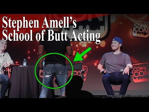 David Ramsey demonstrates Stephen Amell s School of Butt Acting
