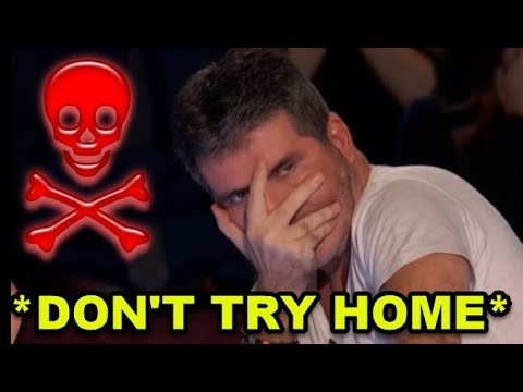 Top 10 MOST DANGEROUS & DON T TRY HOME Auditions I Can t Watch This