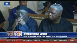 News@10: Elder Statesmen Agree That Nigeria Must Remain United 27/06/17 Pt. 1