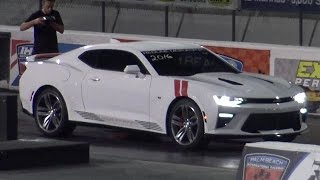 2016 Camaro SS 8 Speed Auto 1/4 Mile Drag Video - Road Test TV